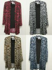 New Susan Graver Foil Printed Leopard Jaguar DUSTER + TANK 2-pc SET Womens XS-3X