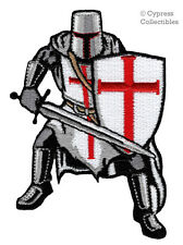 KNIGHTS TEMPLAR CHRISTIAN ARMY iron-on PATCH SIGILLVM MILITVM XPISTI - CRUSADES