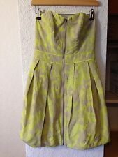 Next taupe/beige & lime/green zip front strapless dress 8