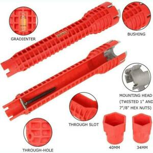 5 In 1 Faucet and Sink Installer tool Pipe Wrench For Plumbers and U2Q9