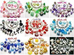 Fashion Many colors Big Hole Charms Beads fit European Bracelets & Necklaces
