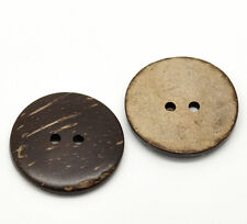 5 Real  Coconut Shell buttons 30mm Sewing, scrap book, Button art  Free UK P&P