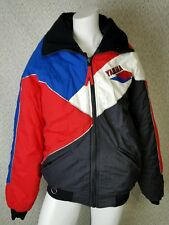 Yamaha motorsports men's jacket coat medium tall spelled out embroidery red blac