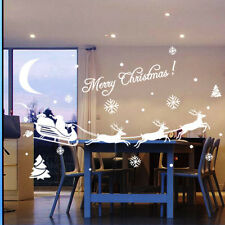 Christmas Decoration Decal Window Stickers Home Decor UK N5