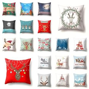 "Throw Pillow Cover Christmas Decorative Home Decor Polyester Cushion Case 18X18"""
