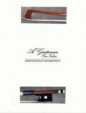 A very fine German violin bow made by Carl Heinrich Knopf ca.1870.Mint!
