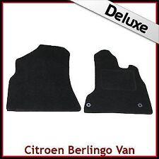 CITROEN Berlingo Van Mk2 2008 adelante Tailored Lux 1300g Alfombra Alfombrillas De Coche Negro