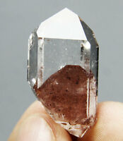 """51.5ct Natural Red Ghost """"pyramid"""" QUARTZ Crystal Point Specimen Healing"""