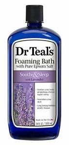 Dr Teal's Foaming Bath w/Pure Epsom Salt 34oz Soothe & Sleep w/Lavender