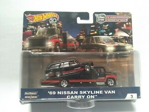 Hot Wheels Car Culture Team Transport '69 Nissan Skyline Van Carry On