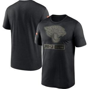 Jacksonville Jaguars Black Shirts 2020 Salute To Service Performance T-Shirt