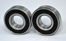 6002-2RS Premium Sealed Ball Bearing for Caroni 1977 Idler Pulley (Qty. 2)