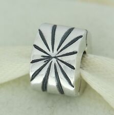 Authentic Pandora 790210 Sunburst Clip Sterling Silver Bead Charm