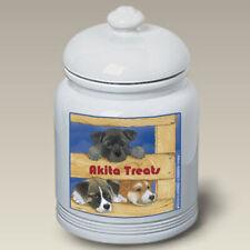 Akita Ceramic Treat Jar Ps 52098