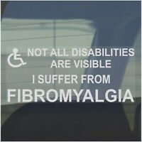 1 x Fibromyalgia-Not All Disabilities Are Visible-200x87mm-Window Sticker-Sign