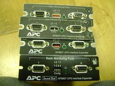 LOT of FOUR APC AP9607 2-Port Serial RS-232 UPS Interface / Monitoring Cards