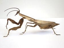 """Original Vintage David Lesser Praying Mantis Signed Metal Sculpture 11 3/4""""long"""