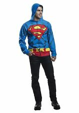 ADULT SUPERMAN COSTUME HOODIE SIZE MEDIUM/LARGE (with defect)