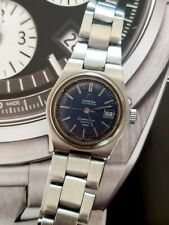 Omega Seamaster Cosmic 2000 automatic ladies Wristwatch Used blue steel .