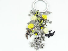 YELLOW & BLACK BEE, BIRDS, KEYRING, PURSE CHARM