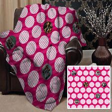 personnalisé rose cercle photo design Doux Couverture polaire Housse 10 images