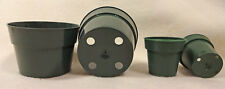 50- 2¼ & 50- 4 inch Green Plastic African Violet Flower pots Made in Usa