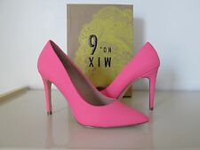 NIB MIX No. 6 Fuchsia Leather Pointy Toe Dress Pumps Heels Shoes - Size 8M