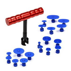 18 teile Paintless Dent Repair Tool T-Bar Karosserie Rutsche Puller Tabs Heber