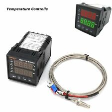 XMT612 Dual Digital F/C Temperature Controller Furnace Kiln Oven + Thermocouple