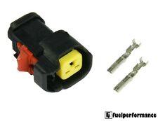 Nuevo Bosch EV6 Amarillo 2 Pin Enchufe de liberación rápida Inyector de combustible