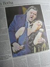 JOHAN BOTHA.Opera Singer.Times Obituary..UK cutting clipping 12.9.16