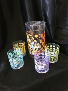 Hallmark Maxine Plastic Pitcher + Drinking Glasses - RARE!