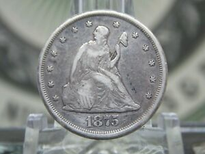 "1875 ""CC"" Twenty Cent Piece Silver 20c #3 East Coast Coin & Collectables, Inc."