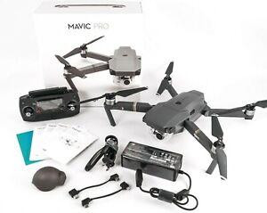 Open Box 4K DJI Mavic Pro Drone, Remote Controller, 2 x Batteries + Accessories