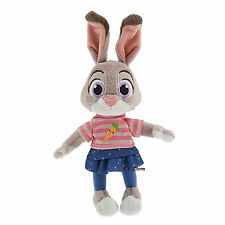 "Zootopia 9"" Judy Hopps Bunny Rabbit Mini Bean Bag Plush Toy Disney Store NEW"