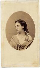 CDV Naples Portrait of a woman Jewels Actress ? Opera ? Photo Grillet 1860c S556