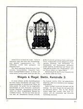 Möbel Wiegels & Riegel Stettin XL Reklame 1924 Szczecin Pommern Polen +