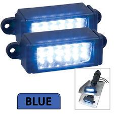 Perko Boat Marine Surface Mount12v LED Trim Tab Underwater Lights Pair BLUE