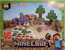 MINECRAFT OVERWORLD DELUXE PACK Paper Craft Kit 90 Pieces Mojang 2013