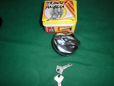 FORD TRANSIT / ANGLIA FUEL CAP CHROME-PLATED WITH KEYS NEW
