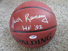 JACK RAMSAY HOF 92 Signed Synthetic Leather NBA Basketball-PSA/DNA Authenticated