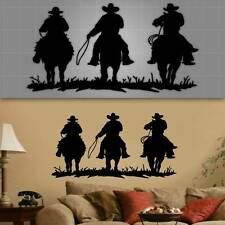 "Old Western Wall Decal, Cowboy Wall Decor, Cowboy Wall Sticker, 22"" x 44"""