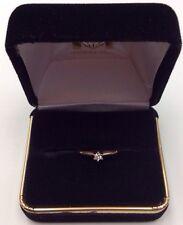 14K REAL YELLOW GOLD Women's Thin Small DIAMOND RING SZ 6.25  2g
