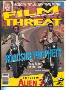 Film Threat 6/1992-LFB-horror movie-F/X-motorcycle cover-Aliens-Traci Lords-VF