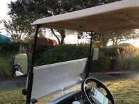 Universal Golf Cart Folding Side View Mirror For Club Car EZGO Yamaha Zone Cart