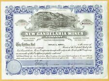 NEW CANDELARIA MINES COMPANY, CANDELARIA NEVADA, 1924 UTAH STOCK CERTIFICATE