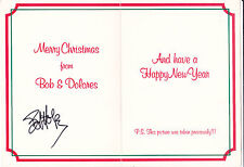 Legendary Actor and Singer BOB HOPE Signed Xmas Card