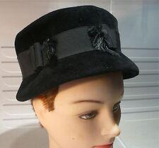 Chapeau de feutre noir 1950…