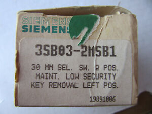 Siemens 3SB03-2MSB1 Selector Switch 2 Position 30MM with 2 keys NEW!!! Free Ship