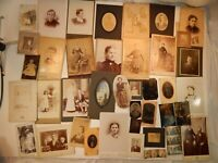 40 Antique 1800's Family Cartographs Photographs Photos Some Tintype